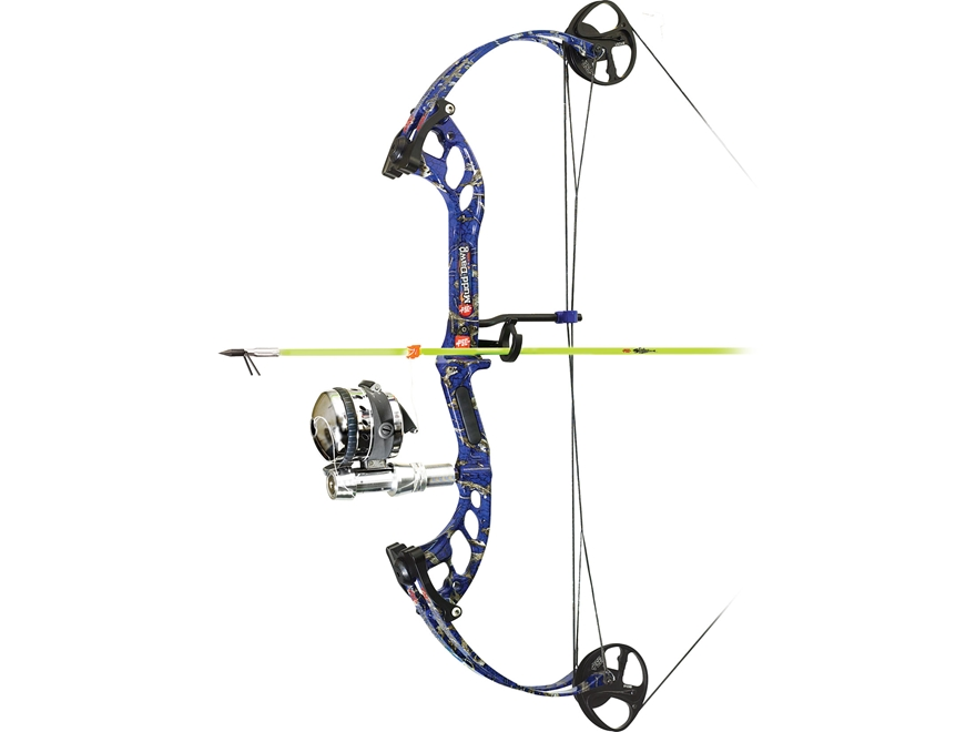 Pse mudd dawg bowfishing bow package muzzy reel upc for Bow fishing bows