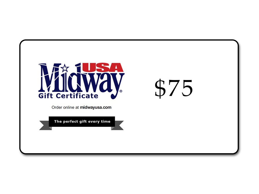 MidwayUSA $75 Gift Certificate