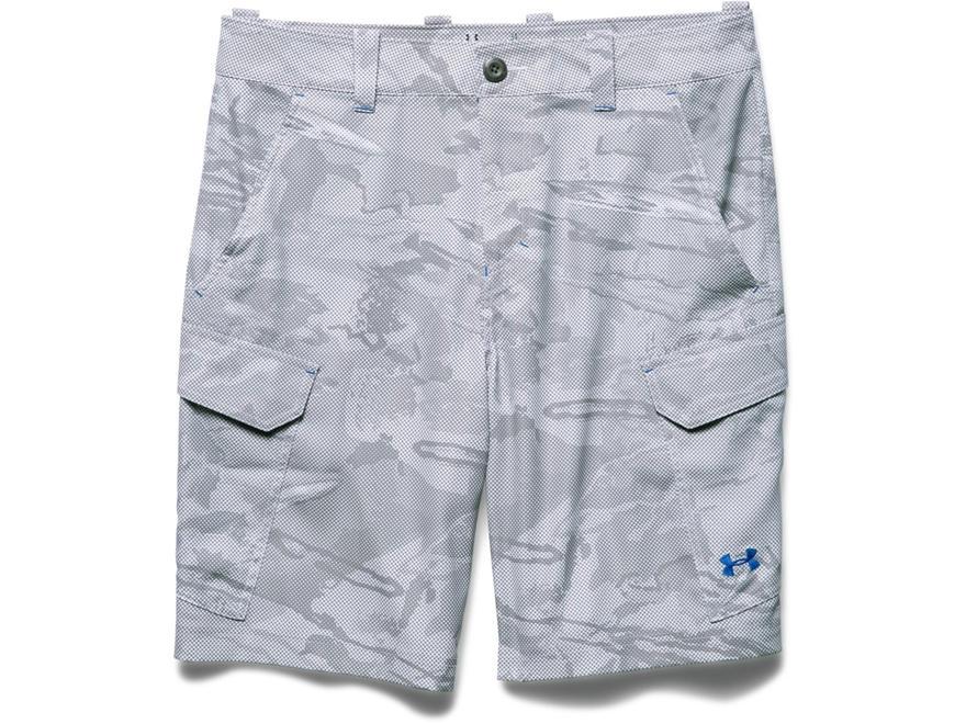 Under armour men 39 s fish hunter cargo shorts polyester for Under armour fishing shorts