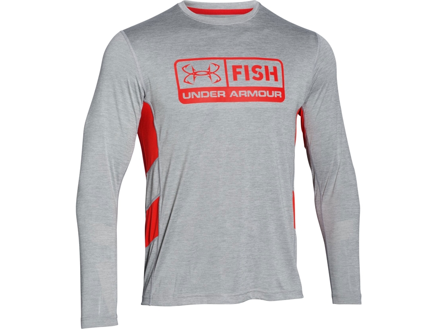 Under armour men 39 s ua fish hunter tech shirt long sleeve for Polyester fishing shirts