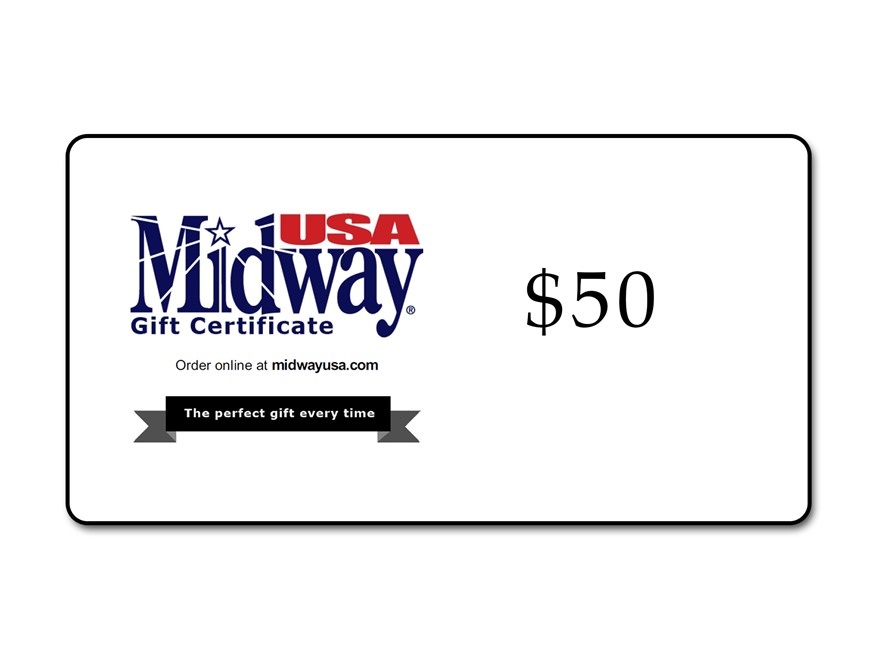 MidwayUSA $50 Gift Certificate
