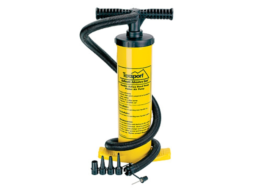 Texsport Double Action Hand Air Pump Polymer Yellow Mpn