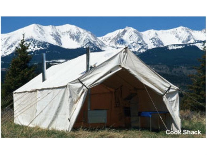 Montana canvas 18 39 x 23 39 wall tent montana blend 2 doors for Canvas wall tent reviews